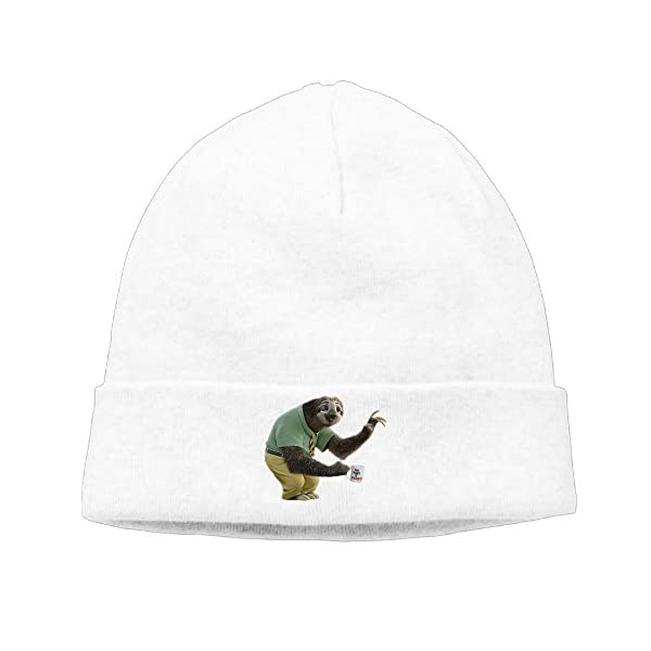 Cartoon Zootopia Flash The Sloth Beanies Hats Warm Winter Caps -
