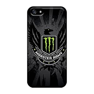Best Hard Cell-phone Cases For Iphone 5/5s With Allow Personal Design Realistic Monster Army Logo Series DannyLCHEUNG
