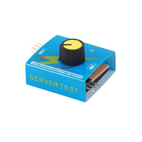 Testeur multi-servo 4.8-6V avec voyant lumineux 3CH ECS Régulateur de vitesse Contrôleur de vitesse Alimentation CCPM Contrôleur maître Pièces de drones RC - Bleu