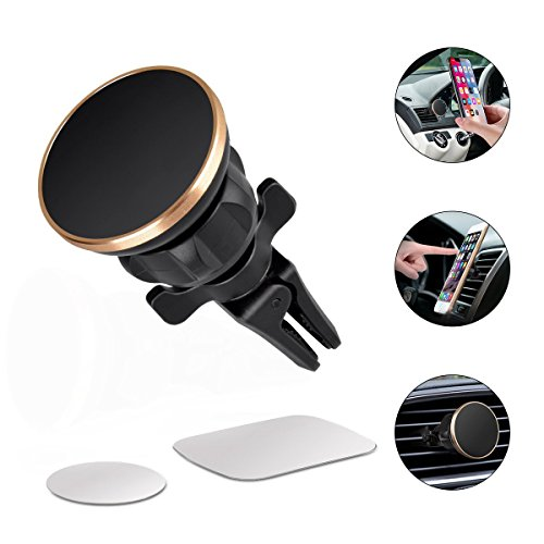 Magnetic Car Mount Universal Air Vent Magnetic Phone Car Mounts Holder Car Cell Phone Mount Holder For iPhone X 8 7 Plus 6S 6 5s 5, Samsung Galaxy S9 S8 S7 S6, LG, Note 8 5 4, Mini Tablet And More by CEMG