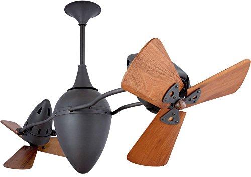 Matthews Fan Company AR-BZ-WD Ar Ruthiane 48 Inch Rotational Indoor Ceiling Fan In Bronze And Mahogany Blade