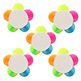 NUOLUX 5pcs Creative Flower Shaped Highlighters 5 Colors Fluorescent Petal Watercolor Marker Pen Office Stationery School Supplies