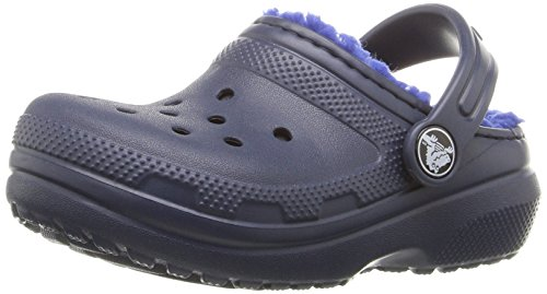 - crocs Unisex , Classic Lined Clog , Navy/Cerulean Blue, 13 M US Little Kid