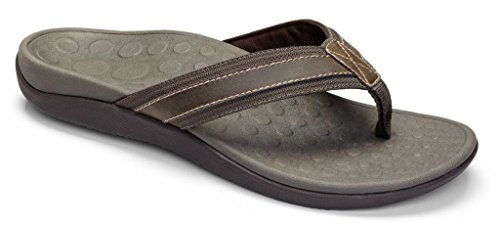 (Vionic Mens Tide Sandal Brown Size 10)