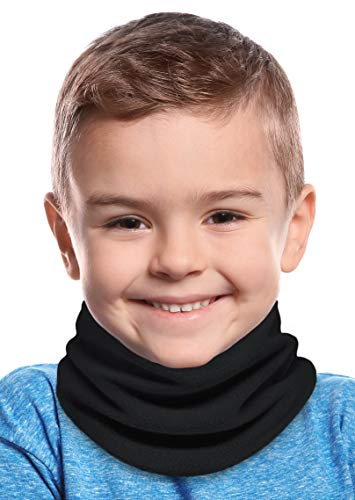 Tough Headwear Kids Fleece Neck Warmer - Childs Neck Gaiter Tube, Ear Warmer Headband & Face Mask for Thermal Retention & Versatility. Constructed with Super Soft Fleece & Microfiber