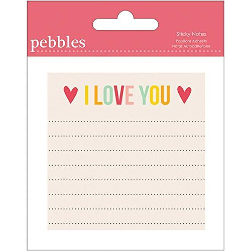 Pebbles Sticky Notes, I Love You (747220) ()