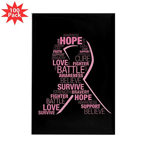 CafePress - Breast Cancer Awarenes - Rectangle Magnet (100 pack) by CafePress