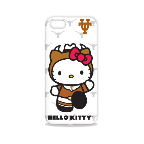 Tribeca Gear FVA7584 Hard Shell Case for iPhone 5 - Hello Kitty -  University of Texas - 1 Pack - Retail Packaging - White