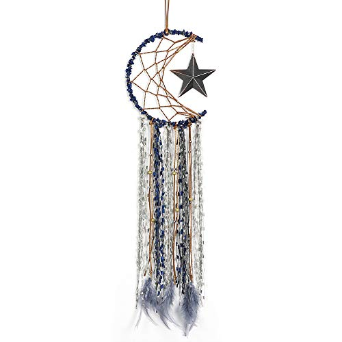 (Dream Catcher ~ Handmade Traditional Feather Wall Hanging Home Decoration Decor Ornament Craft (Star))