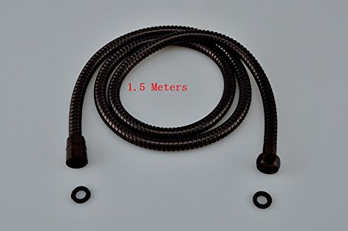 Hight Quality 1 5M Shower Replacement Anti Twist Shower Hose Oil Rubbed Bronze Brass Antique Shower Head Bathroom Plumbing Hoses