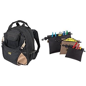 Custom Leathercraft 1134 Tool Backpack, 48-Pocket with