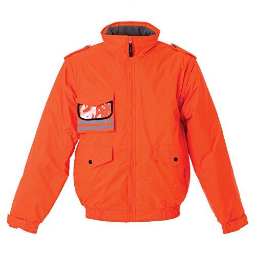 Arancione Finland Badge Staccabili Maniche Imbottito Con Lavoro Da E Fluo Jrc Giubbino Porta vwP4x