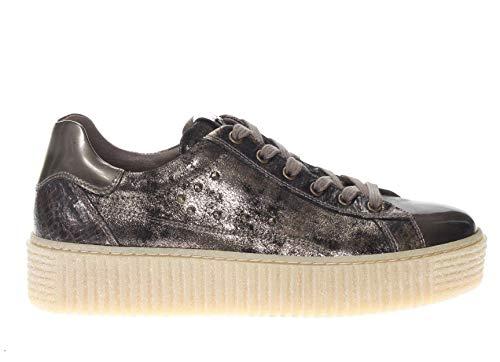 Bronzo Pelle Giardini In Donna Sneaker Nero qwXcfO7f