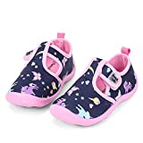 nerteo Water Shoes Girls Kids Walking Sneakers Sandals for Beach/Camp/Pool Swim Navy/Pink/Unicorn US 10 Toddler