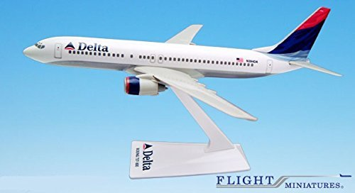 Delta (00-07) 737-800 Airplane Miniature Model Plastic Snap Fit 1:200 Part# ABO-73780H-023