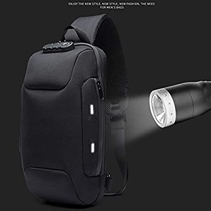 Anti-theft Backpack With 3-Digit Lock Shoulder Bag Waterproof for Travel New