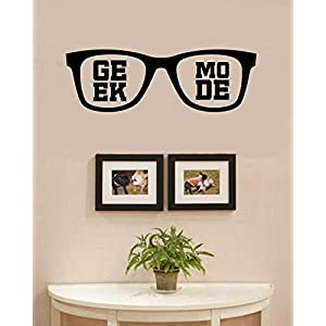 Geek mode sunglasses Vinyl Wall Art Decal Sticker