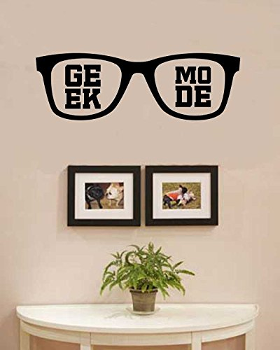 Geek mode sunglasses Vinyl Wall Art Decal - Sunglass Art