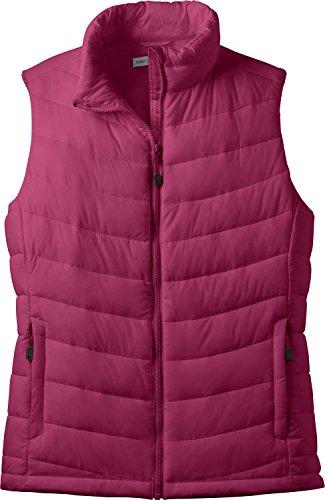 Port Vest Authority Womens (Port Authority - Ladies Mission Puffy Vest Jacket - Plum Purple L314 S)