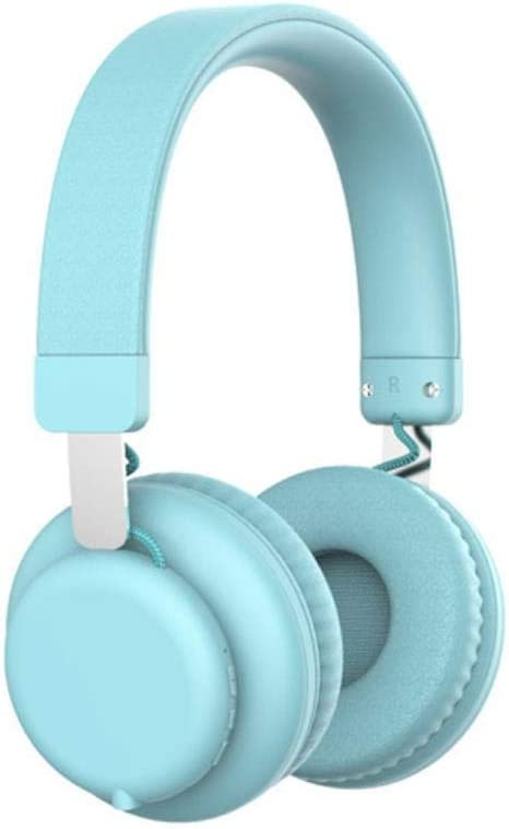 FXMINLHY Fashion Pink Wireless Bluetooth Headphones Cute Headset with Microphone Bluetooth On Ear Headphone for Women Girl Kids New Year Gift,Blue