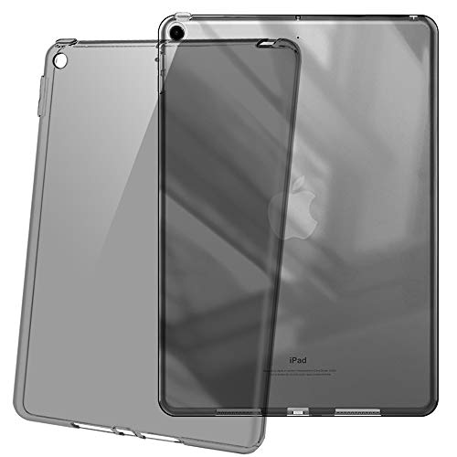 (HBorna Soft TPU Case for iPad 9.7 2018/2017 Model, Ultra Slim Transparent Flexible Rubber Silicone Gel Scratch Resistant Back Cover Skin for Apple iPad 9.7 Inch 5th 6th Generation - Taupe)