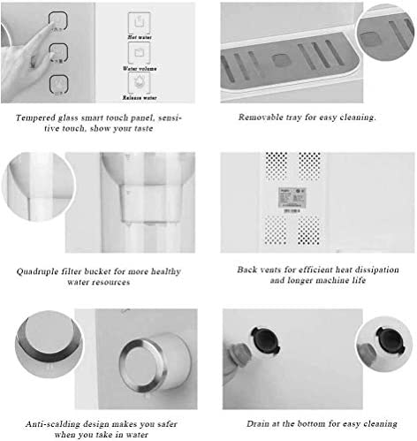 XWX Filter Water Dispenser Snel Hot Mini Desktop Small Office Home Elektrische Theepot 5 Temperatuurinstelling 3L Grote capaciteit (Kleur : A)