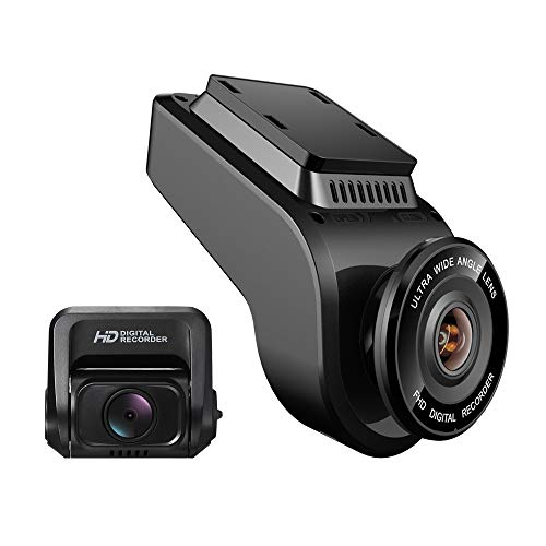 U-Likee Dual Front and Rear FHD 1080P Dash Cam Dual Camera Car DVR with WiFi and GPS Car Camera