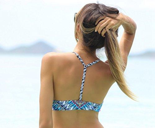 WanYang Nuevo Bikini Impresión Moda Halter Cuello Alto Atractiva de Traje de Baño #--1