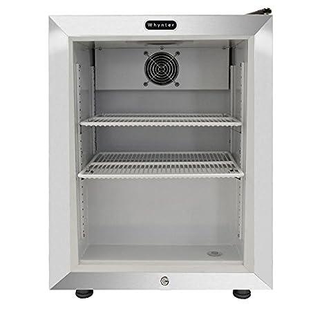 Whynter - Congelador de puerta de cristal con pantalla de 1,8 pies ...