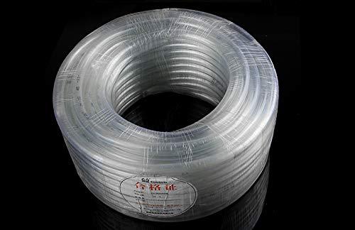 by Buttacup, 4mm internal diameter (6mm external diameter) clear flexible irrigation pipe hose (30 metres)