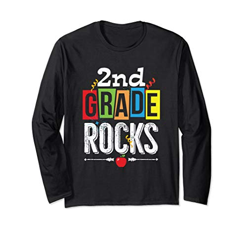 (2nd Second Grade Rocks Back To School Long Sleeve Shirt )