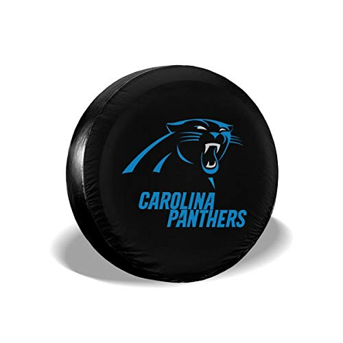 Sorcerer Custom Colorful Waterproof Tire Cover Carolina Panthers American Football Team Unisex Protection Spare Covers Storage Wheel Cover for Car Off Road Truck