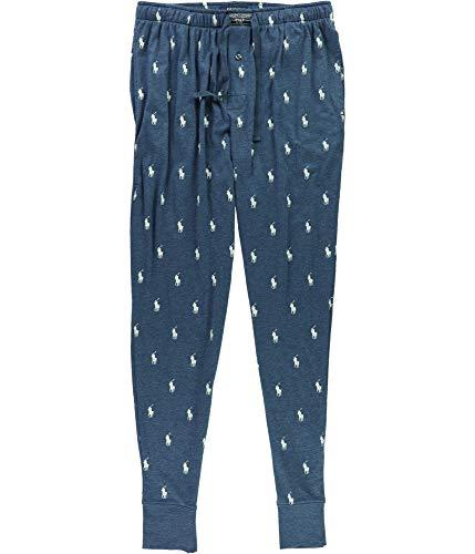 Polo Ralph Lauren Mens Logo Print Relaxed Jogger Pants Blue ()
