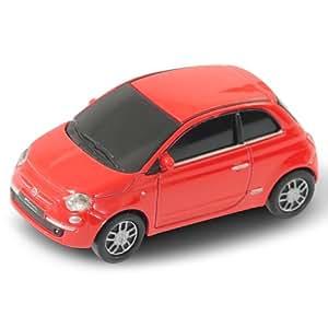 AutoDrive Fiat 500 - Memoria USB (4GB Flash, USB 2.0), diseño de coche Fiat 500, color blanco