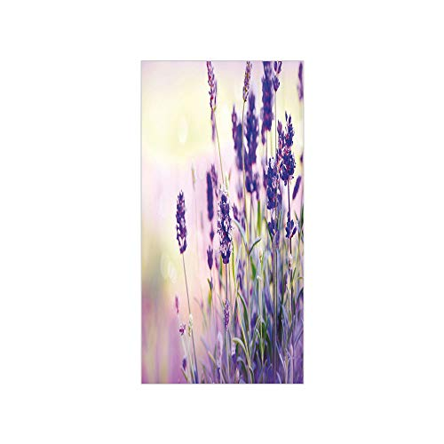 Window Decorative Delicate (3D Decorative Film Privacy Window Film No Glue,Lavender,Dreamlike Spring Day with Fresh Blossoms Aromatic Delicate Wild Flowers Decorative,Lavender Lilac Green,for Home&Office)