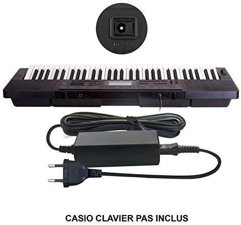 ABC Products - Cable adaptador de pared para Casio DC 9.5V / 9.5V (AD-E95100LE/AD-E95100L/AD-E95100L/AD-E95100LG/ADE95E / AD-E95) para Casio ...