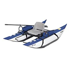 The Roanoke Pontoon Boat by Classic Accessories is rugged, nimble and reliable. Lightweight and easy to maneuver this 8 foot boat features heavy duty pontoons, aluminum oars, oar locks, temperature resistant bladders, and a powder coated stee...