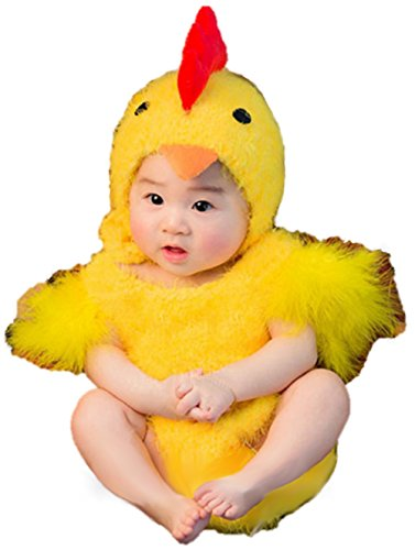 Ramatic Unisex Newborn Baby Photography Chicken Costume Easter Cosplay Romper Toddler Size (Yellow) -