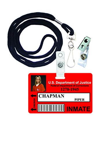 Piper Chapman OITNB Novelty ID Badge Film Prop for Costume and Cosplay • Halloween and Party Accessories ()