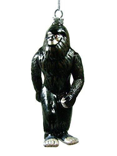 New Glass Black Bigfoot Sasquatch Ape-like Christmas Tree Ornament