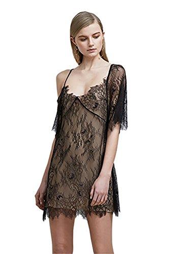 Keepsake Above Water Lace Dress in Black (Large)
