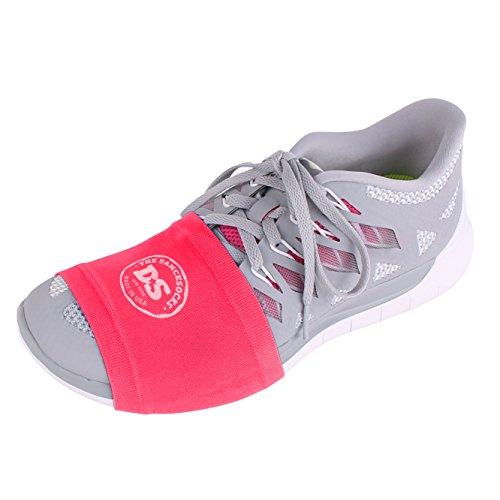 DIE DANCESOCKS Sneaker Socken zum Tanzen auf glatten Böden (2 & 4 Paar Packs) rot