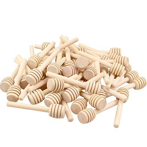 150 Pack 3 Inch Mini Wood Honey Dipper Sticks, Individually Wrapped, Server for Honey Jar Dispense Drizzle Honey by Thyores (Image #6)
