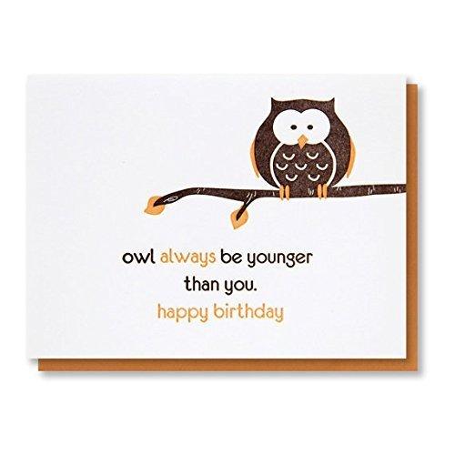 Amazon owl birthday snarky punny birthday letterpress card owl birthday snarky punny birthday letterpress card blank inside m4hsunfo