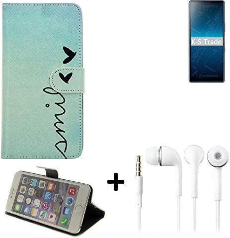 smile K-S-Trade/® 360/° Wallet Case Protective Cover For Sony Xperia L4 In Ear Headphones Bookstyle Flip Case Bag