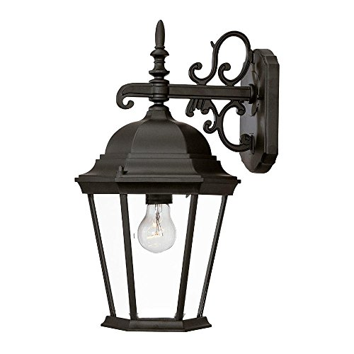 Acclaim 5202BK Richmond Collection 1-Light Wall Mount Outdoor Light Fixture, Matte Black