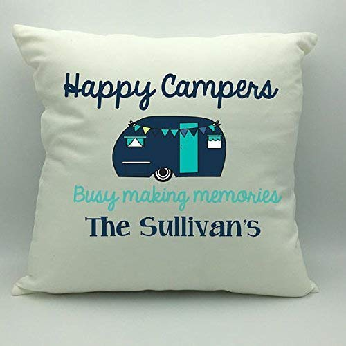 Happy Campers Pillowcase | Camping Pillow Cover | Custom Pillowcase | Camping Decor | Personalized Pillowcase | Camp Decor | Glamping