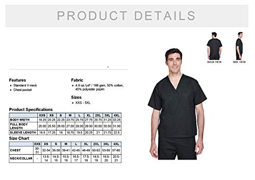 THE ALL BLACK SCRUB SET | PERSONALIZED Embroidered Name Scrub Top + Bottom for Medical Professional | Doctor Physician Nurse MD DO PA NP Student Med Tech MLS Lab Surgery Laboratory EMT