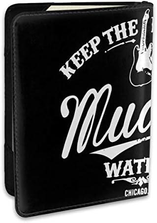 マディ・ウォーターズ Keep The Blues Alive パスポートケース パスポートカバー メンズ レディース パスポートバッグ ポーチ 収納カバー PUレザー 多機能収納ポケット 収納抜群 携帯便利 海外旅行 出張 クレジットカード 大容量