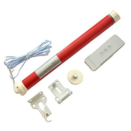 MorningRising 12V DIY Electric Roller Blind/Shade Tubular Motor Kit & Remote Controller Suit for 30mm Tube ()